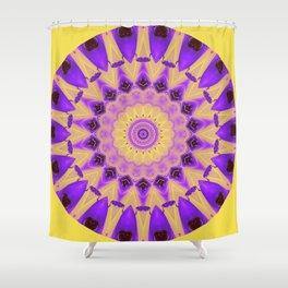 Bold Purple and Yellow Mandala Shower Curtain