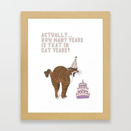 Actually... Framed Art Print