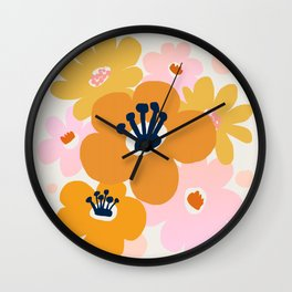 Abstraction_Flowers_Blossom_001 Wall Clock