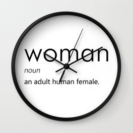 Woman (Definition) Wall Clock