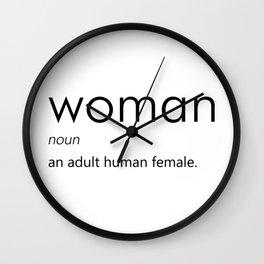 Woman (Definition) Wall Clock
