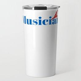 Musician Ninja in Action Travel Mug