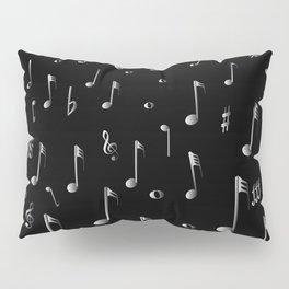 Raining Music Pillow Sham