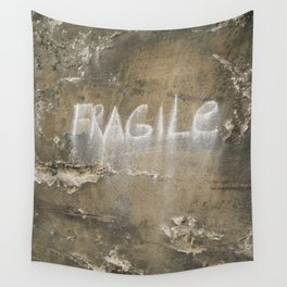 Fragile city Wall Tapestry