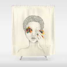 Give Me Your Eyes Shower Curtain