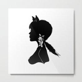 Foxy Silhouette Metal Print