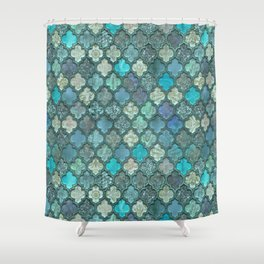 Moroccan Inspired Precious Tile Pattern Shower Curtain