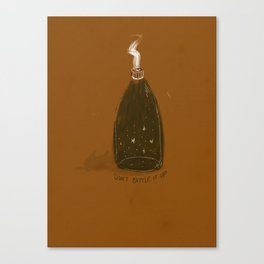 Don't Bottle It Up Canvas Print