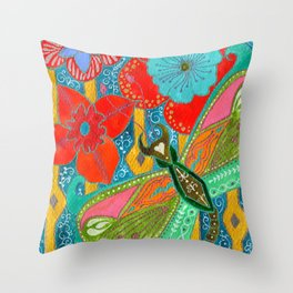 Stabberfly Throw Pillow