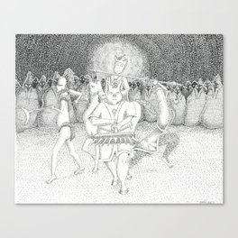 Monkey-King & his Crew Canvas Print