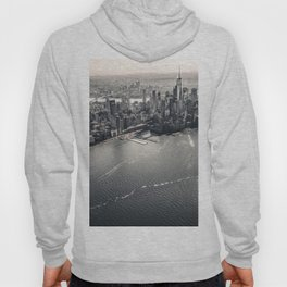The Gray Cityscape of New York (Color) Hoody