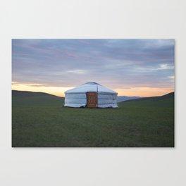 Mongolian Ger at Sunset Canvas Print
