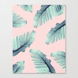 Blush Banana Leaves Dream #6 #tropical #decor #art #society6 Canvas Print
