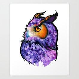 Cosmic Owl Art Print