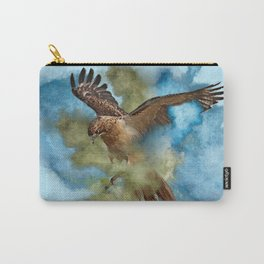 Red Tail Hawk in Clouds of Smoke Carry-All Pouch