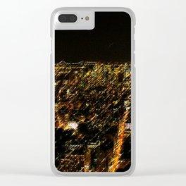 New York City Skyscraper Skyline Landscape Painting by Jeanpaul Ferro Clear iPhone Case