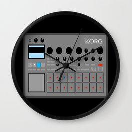 Retro Drum Sequencer Sampler KORG Analog Wall Clock