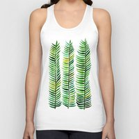 mint Tank Tops featuring Seaweed by Cat Coquillette