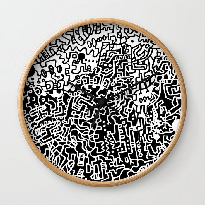 Cell Art Wall Clock