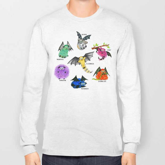 Seven Books, Seven Iggys Long Sleeve T-shirt