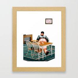 Habits / Junk Food Framed Art Print
