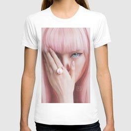 Pink lady. Asian portrait. Fine Art T-shirt