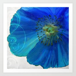 Poppy Blues I Art Print
