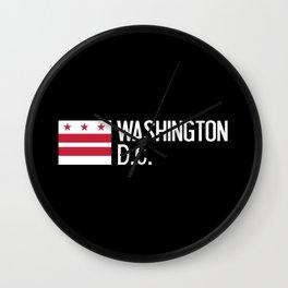 Washington D.C.: Washington D.C. Flag Wall Clock
