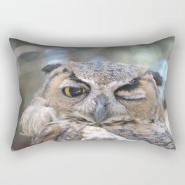 Owl Wink Rectangular Pillow