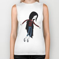 marceline Biker Tanks featuring Marceline fly by OverClocked