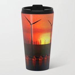Boats at Sunset (Digital Art) Travel Mug
