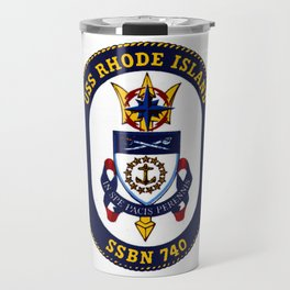 USS RHODE ISLAND (SSBN-740) PATCH Travel Mug