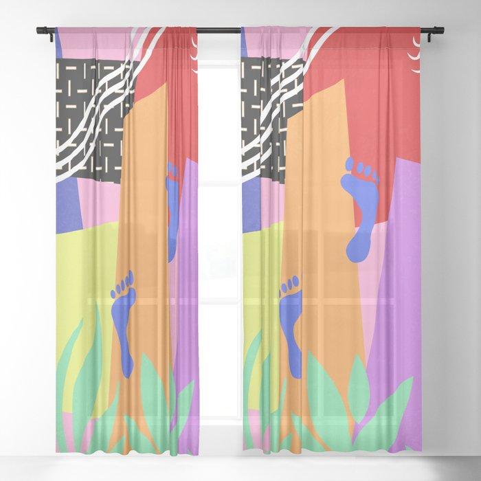 TROPICAL BEACH Sheer Curtain