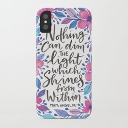 Maya Angelou Watercolour Quote iPhone Case