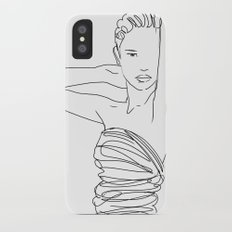 Line Art Lady iPhone X Slim Case