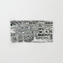 Highly Resolved Ghost (P/D3 Glitch Collage Studies) Hand & Bath Towel