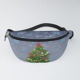 Christmas tree & snow v.2 Fanny Pack