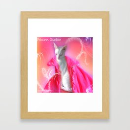 Cat- Princess Charline Framed Art Print