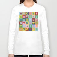 alphabet Long Sleeve T-shirts featuring Alphabet by Project M