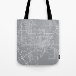 Gainesville Map, Florida USA - Pewter Tote Bag