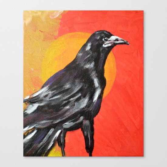 Sunrise, Sunset: Something to Crow About Canvas Print