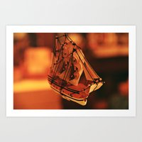 pirate ship Art Prints featuring Pirate Ship by Tasha Grabowski