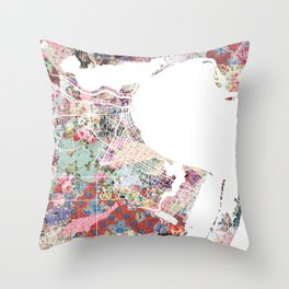 Corpus Christi map Throw Pillow