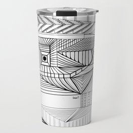 Geometric Architectural Bird-01 Travel Mug