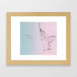 west bund Framed Art Print