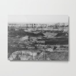 rocky mountain at Grand Canyon national park, USA in black and white Metal Print
