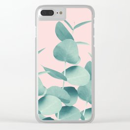Eucalyptus Leaves Green Blush #1 #foliage #decor #art #society6 Clear iPhone Case