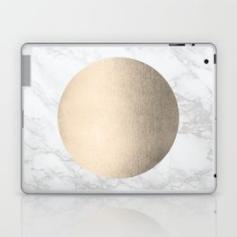 Gold Marble Sun Mandala Laptop & iPad Skin