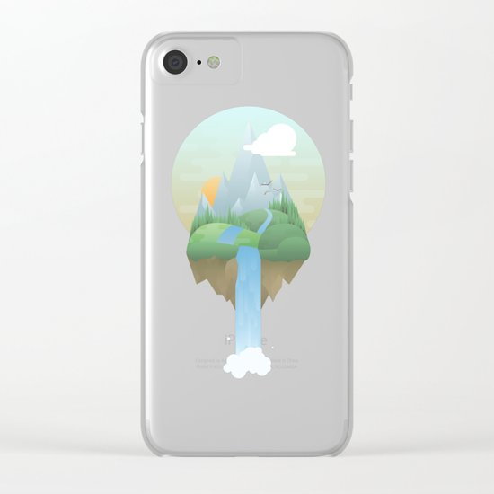 Our Island in the Sky Clear iPhone Case