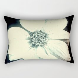 White Dahlia, Christmas Star Rectangular Pillow